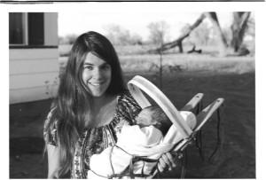 photo Lucy with Matt, Chinle 1971